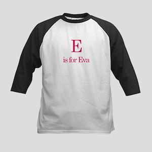 E is for Eva Kids Baseball Jersey