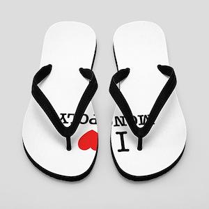 I Love MONOPOLY Flip Flops