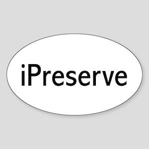iPreserve Oval Sticker