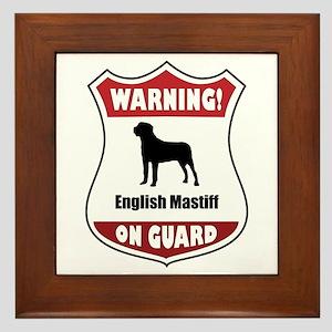 Mastiff On Guard Framed Tile
