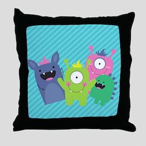 Cute Monster Throw Pillow