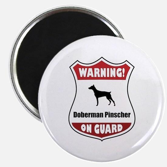 Doberman On Guard Magnet