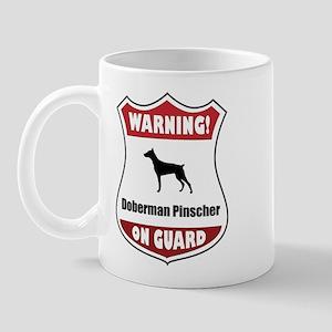 Doberman On Guard Mug