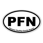 Panama City-Bay County Airport Oval Sticker