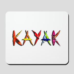 Kayak Graffiti Mousepad