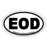 Explosive Ordnance Disposal EOD Oval Sticker