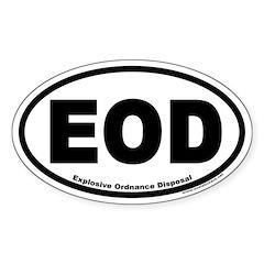 Explosive Ordnance Disposal EOD Oval Decal