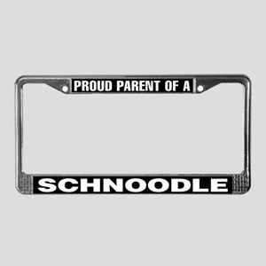 Proud Parent of a Schnoodle License Plate Frame