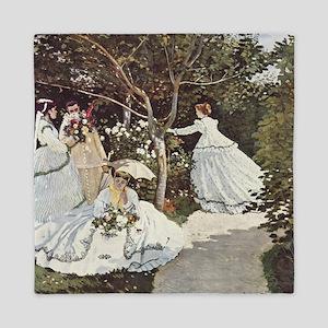 Claude Monet Painting Queen Duvet