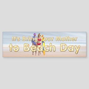 Beach Day Sticker (Bumper)