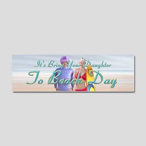 Beach Day Car Magnet 10 x 3