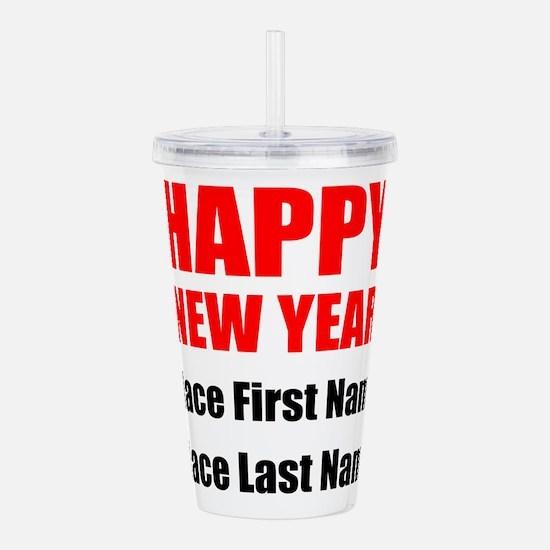 Happy New Year Acrylic Double-wall Tumbler