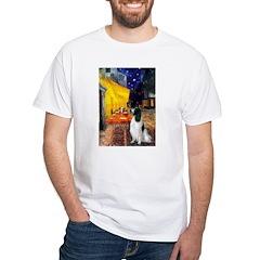 Cafe / Eng Springer White T-Shirt
