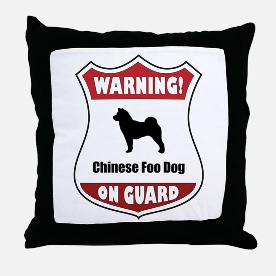 Foo Dog On Guard Throw Pillow