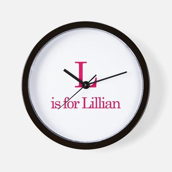 L is for Lillian Wall Clock