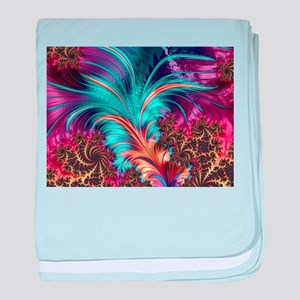 Feather - abstract 3d Fractal baby blanket