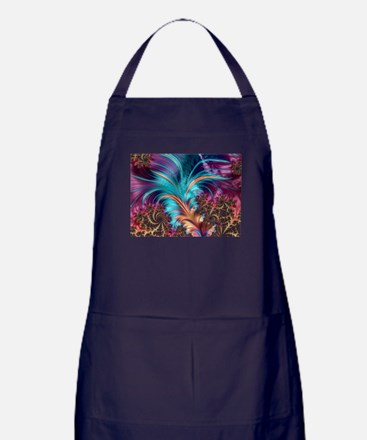 Feather - abstract 3d Fractal Apron (dark)