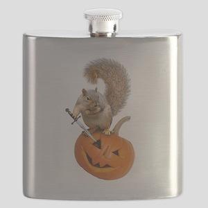 Squirrel Sword Jack-o-Lantern Flask
