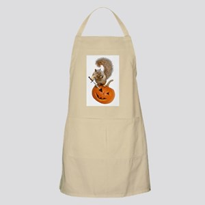 Squirrel Sword Jack-o-Lantern Apron
