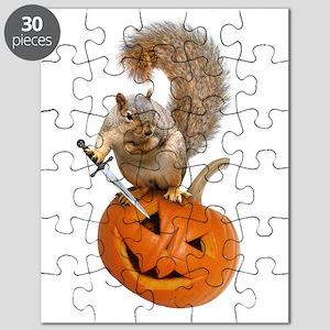 Squirrel Sword Jack-o-Lantern Puzzle