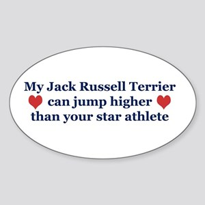 My Jack Russell Can Jump Higher - Oval Sticker