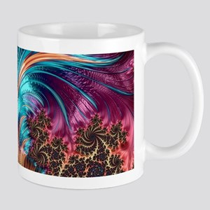 Feather - abstract 3d Fractal Mugs