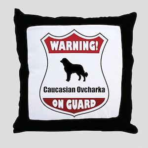 Caucasian On Guard Throw Pillow
