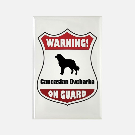 Caucasian On Guard Rectangle Magnet (10 pack)