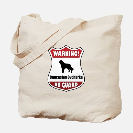 Caucasian On Guard Tote Bag
