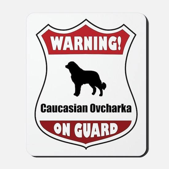 Caucasian On Guard Mousepad