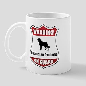 Caucasian On Guard Mug