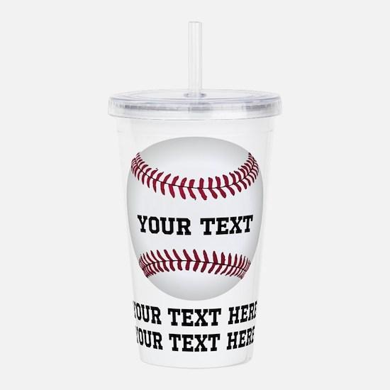 Baseball Acrylic Double-wall Tumbler