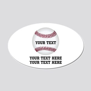 Baseball 20x12 Oval Wall Decal