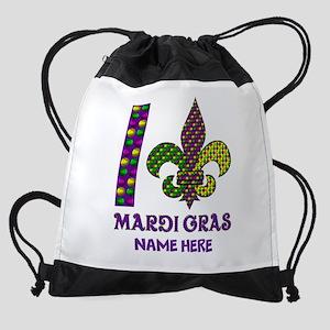 Mardi Gras Drawstring Bag
