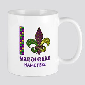 Mardi Gras 11 oz Ceramic Mug