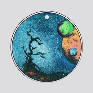"Circle ""Driftwood"" Ornament (Round)"