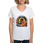 Horn of Plenty Women's V-Neck T-Shirt