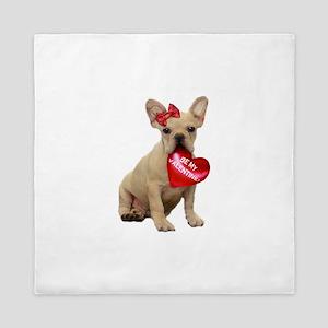 Be Mine French Bulldog Queen Duvet