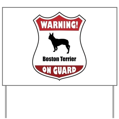Terrier On Guard Yard Sign