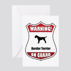 Terrier On Guard Greeting Card