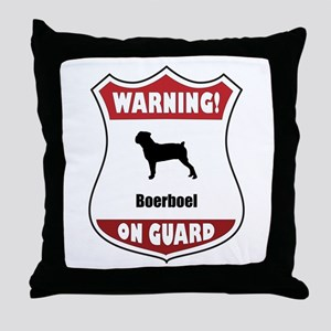 Boerboel On Guard Throw Pillow