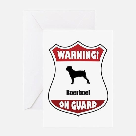 Boerboel On Guard Greeting Card