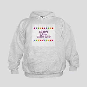 Daddy's Little Cuddle Bunny Kids Hoodie