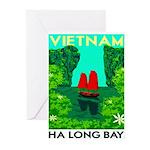 Ha Long Bay - Vietnam Print Greeting Cards