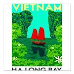 "Ha Long Bay - Vietnam Print Square Car Magnet 3"" x"