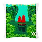 Ha Long Bay - Vietnam Print Woven Throw Pillow