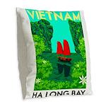Ha Long Bay - Vietnam Print Burlap Throw Pillow