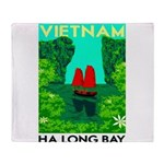 Ha Long Bay - Vietnam Print Throw Blanket