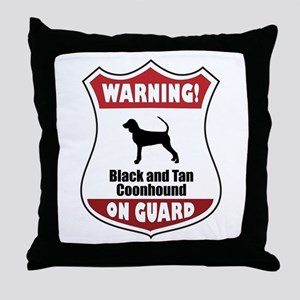 Black and Tan On Guard Throw Pillow