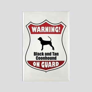 Black and Tan On Guard Rectangle Magnet